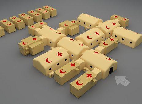 آلومینیوم در بیمارستان صحرایی