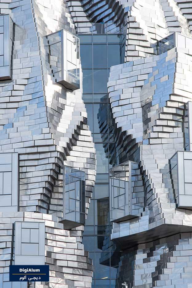 طراحی نمای برج Luma Arles در ترکیبی از آلومینیوم و شیشه