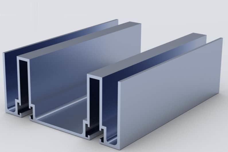 پروفیل نیمه توخالی ساخته شده از انواع قالب اکستروژن semi-hollow