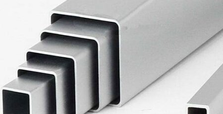 تیوب، میله و میلگرد با سطح مقطع مربعی آلومینیومی